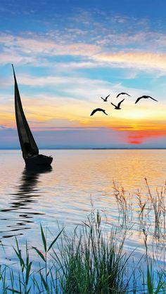 Easy Watercolor, Watercolor Landscape, Landscape Art, Landscape Paintings, Landscape Photography, Nature Photography, Beautiful Nature Wallpaper, Beautiful Sunset, Beautiful Landscapes