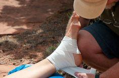 Sprained or broken ankle make shift brace - Backpacker.com