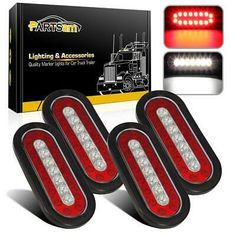 """2Pc New 4/"""" Round Truck Trailer Stop Turn Tail 14-Diode Flush Mount Red LED Light"""