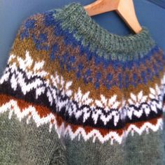 Hand Knitted Traditional Icelandic Lett - Lopi Jumper *Profits to Parkinsons UK*