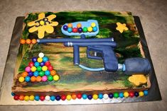 cool paintball cakes | Paintball cake