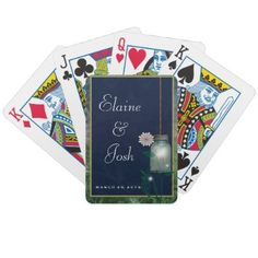 Unique wedding gift for country wedding couple!  Mason jar playing cards you can personalize.