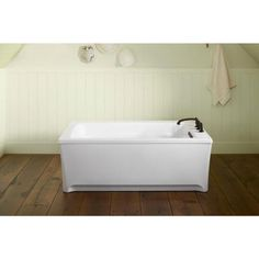 KOHLER Archer 5 Ft. Freestanding Air Bath Tub In Almond (Brown)