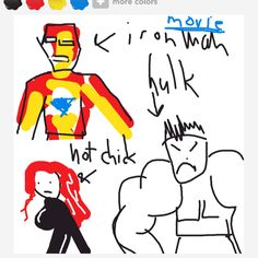 """""""Avengers""""  ...In my defense, I was drunk and didn't have access to the color green."""