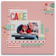 Time For Cake layout using Elle's Studio Exclusive March kit and cut files