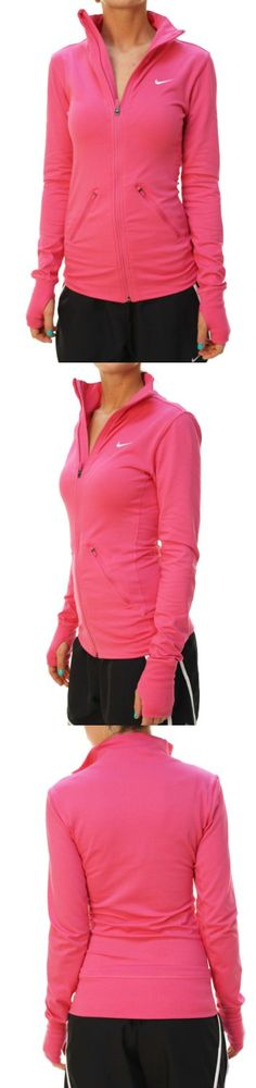 NIKE Women's Dri-Fit Full Zip Training Jacket-Pink - NIKE Women's Dri-Fit Full Zip Training Jacket-PinkItem Features:Full Front ZipperLong SleevesMock NeckFront Zipper PocketsDri-Fit Technology Thumb Holes in sleevesNike Swoosh on chestBody: 61% Cotton,... - Track & Active Jackets - Apparel -