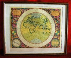 20131 $9999 or bedst offer - Harmonia Macrocosmica printed 1962 - framed - very rare - free shipping worldwide or pick up in sarchi costa rica. not a print