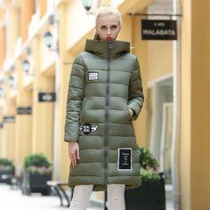 New Fashion High end Parkas women slim long Thick outerwear coat womens winter hoodies female Plus Size warm cotton coats LX6141