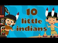 Ten Little Indians - Nursery Rhymes Tribute to Master Amos Yee. Ten Little Indians, Indian Nursery, Thanksgiving Preschool, Thanksgiving Songs, Nursery Rhymes Collection, Indian Theme, Preschool Music, Kids Songs, Indian Crafts