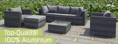 Gartenmöbel, Poly Rattan, Lounge Möbel - Gartenmöbel, Gartengewächshaus, Gartenschirme