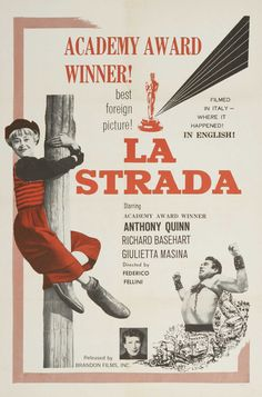 La strada (1954) #movies #films #LaStrada #FedericoFellini #50s #posters #HighRes #HR