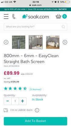Straight Baths, Bath Screens, Coding, Bathroom, Washroom, Bathrooms, Bath, Programming