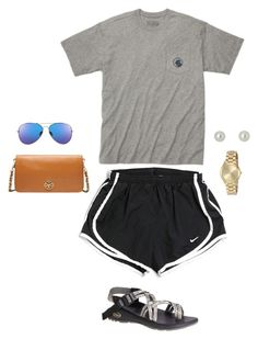 """""""Running Errands"""" by ahmanijmurray on Polyvore featuring NIKE, Southern Proper, Chaco, Michael Kors, Givenchy and Tory Burch"""