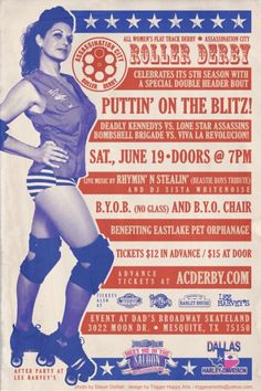 Go see a Roller Derby Match! @ Beth Koehler - naturally, I thought of you. Web Design Basics, City Roller, Roller Disco, Roller Derby Girls, The Blitz, Vintage Advertisements, Vintage Ads, Roller Skating, Pin Up Style
