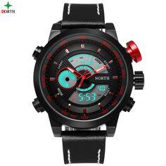 Montre Homme Digital LED Watch Men Analog Digital-Watch Men Top Brand LED Wrist Watch Waterproof Hodinky Wach Men Watch Sport