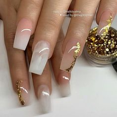 Awesome coffin nails are the hottest nails now. We collected of the most popular coffin nails. So, you don't have to spend too much energy. It's easy to find your favorite coffin nail design. Short Square Acrylic Nails, Acrylic Nails Coffin Short, Best Acrylic Nails, Coffin Nails, Winter Acrylic Nails, Bling Acrylic Nails, Gold Nails, Milky Nails, Nails Now