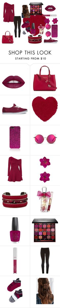 """Burgundy, fun with class"" by lets-try-not-to-panic ❤ liked on Polyvore featuring MICHAEL Michael Kors, Vans, Yves Saint Laurent, Matthew Williamson, Accessorize, Tod's, Juicy Couture, OPI, Smashbox and The Row"