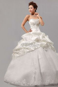 Top Ball Gown Sweetheart Floor Length Appliques & Lace Wedding Dress What I want to we're at my wedding