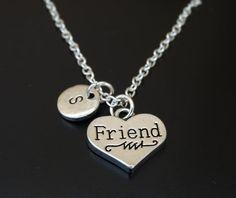 Friend Necklace Friend Charm Friend Pendant Friend Jewelry Best Friend Gift
