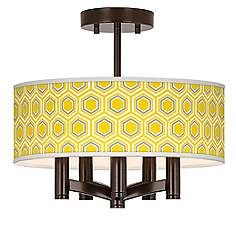 Honeycomb Ava 5-Light Bronze Ceiling Light dining room