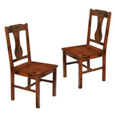 WE Furniture Wood Dining Chairs, Dark Oak, Set of 2 by WE Furniture. Save 51 Off!. $146.85. Assembly instructions included with toll-free number and online support. Curving back detail. Set includes two chairs. Ships ready-to-assemble with necessary hardware and tools. Solid wood construction in rich, dark oak finish. These charming wood dining chairs are an irresistible addition to any dining room or sitting area. The attractive, dark oak finish and distressed detailing crea...