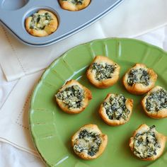Spinach and Cheese Cups