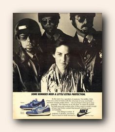 Nike Advert - Running Nike Poster, Poster Ads, Nike Retro, Vintage Nike, Vintage Ads, 80s Ads, Nike Ad, Shoes Ads, Old Commercials