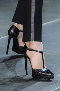 "Saint Laurent Paris Spring 2013  ~~* makes note that the ""T"" strap is back *~~"