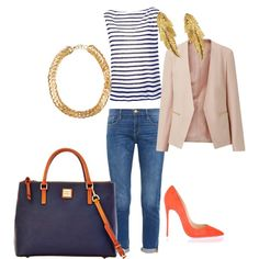 Untitled #4 by mchiviredzuwah on Polyvore featuring polyvore, fashion, style, T By Alexander Wang, Frame Denim, Christian Louboutin, Dooney & Bourke, SELECTED and LeiVanKash