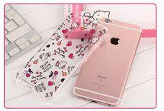 X-Doria Hello Kitty Slim Waist Crystal Diamond Bezel Transparent TPU Protective Case for Apple iPhone 6S/6 & iPhone 6S Plus