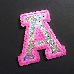 Hand Embroidered Sequined Varsity Letter Patch by King Sophie's World