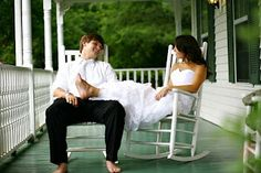 From Cat's Resume - How awesome would it be to take this picture on your wedding day and then every 5-10 years... so eventually you have one when you're both in your 70's/80's, sitting on the porch in rocking chairs :)