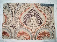 "DONGHIA ""ELIZA"" RUST FABRIC REMNANT"