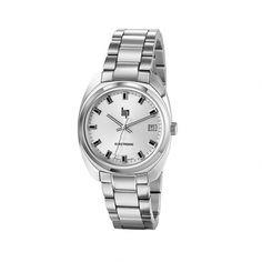 Montre LIP Général De Gaulle 671025 La montre Général De Gaulle de LIP, de style classique, plaira aux amoureux du vintage. Son boitier et son bracelet sont en acier. Le cadran de cette montre est doté d'index baton en relief et d'un dateur. #LIP #montres