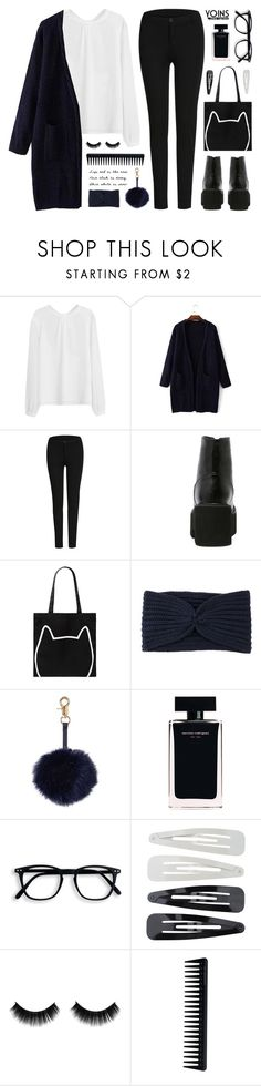 """""""yoins 18"""" by tania-maria ❤ liked on Polyvore featuring Forever 21, Hat Attack, Narciso Rodriguez, GHD, yoins, yoinscollection and loveyoins"""