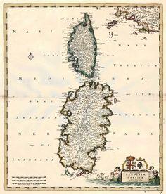 Insularum Sardiniae et Corsicae Descriptio - de Wit F., c. 1680.