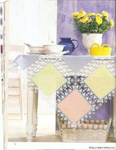 Crochet.  Toalhas, guardanapos e cortinas (42) (539x700, 322KB)