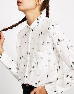 Bershka Italy - Camicia BSK con bottoni sulla schiena