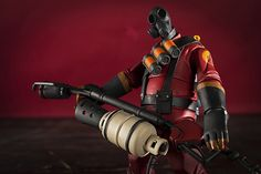 Here is a shot of my Pyro figure with his flame thrower.