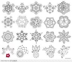 Little Town - Snow Crystals Jolly - Amy Sinibaldi - Art Gallery Fabrics - Fabric By the Half Yard - Her Crochet Crochet Snowflake Pattern, Christmas Crochet Patterns, Holiday Crochet, Crochet Snowflakes, Crochet Patterns Amigurumi, Crochet Diagram, Crochet Motif, Crochet Doilies, Crochet Angels