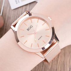 Hot Geneva Style Full Stainless Steel Women's Fashion Watches Luxury Brand Gold Watches Women Quartz Clock With Mesh Band Hours #womenwatchmeshband