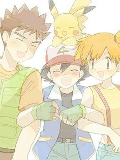 Ash,brock,misty and pikachu :D