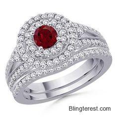 Round #Garnet and #Diamond #Ring SD_SR0170G  #Jewelry http://blingterest.com/rings/diamond-rings/round-garnet-and-diamond-ring-sd_sr0170g-sd_sr0170g-jewelry/