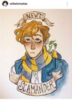 Why yes, another Newt Scamander drawing Harry Potter Drawings, Harry Potter Fan Art, Harry Potter Characters, Harry Potter Fandom, Harry Potter Universal, Harry Potter World, Hogwarts, Desenhos Harry Potter, Mundo Harry Potter