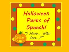 Parts of Speech practice for Halloween!  Three fun activities in one and so much fun!