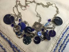 Vintage Button Necklace by BornAgainButtons on Etsy