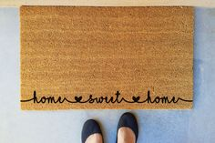Home Sweet Home / Exterior / Door Mat / Monogram / Coir / Personalized / Custom / Weather Resistant / Decor / Outdoor / Mat / Welcome / Name by HandcraftedByLani on Etsy