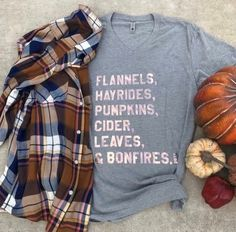 Fall Graphic Tee / Fall Fashion 2017 / PSL Preppy / Shop Bella's Basket / Plaid / Fun and Sun Without the Buns