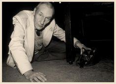 William S Burroughs and black cat @Kim Kiwi