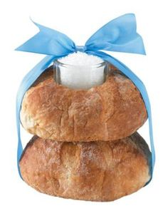 """Traditional Polish wedding gift/housewarming gift of bread and salt. """"We greet you bread and salt so that your home might always enjoy abundance."""""""